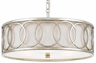 Crystorama 287-SA Graham Antique Silver Drum Pendant Hanging Light