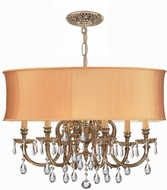 Crystorama 2916-OB-SHG-CLQ Brentwood Olde Brass Drum Drop Lighting