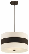 Crystorama 295-DB Grayson Modern Dark Bronze 18  Ceiling Light Pendant