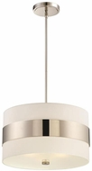 Crystorama 295-PN Grayson Modern Polished Nickel 18  Ceiling Pendant Light