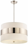 Crystorama 297-PN Grayson Modern Polished Nickel 23  Drop Lighting Fixture