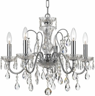 Crystorama 3025-CH-CL-MWP Butler Polished Chrome Mini Hanging Chandelier