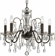Crystorama 3025-EB-CL-S Butler English Bronze Mini Chandelier Lamp