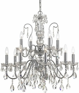 Crystorama 3029-CH-CL-SAQ Butler Polished Chrome 29 Hanging Chandelier