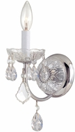 Crystorama 3221-CH-CL-MWP Imperial Polished Chrome Wall Sconce Lighting