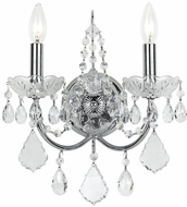 Crystorama 3222-CH-CL-SAQ Imperial Polished Chrome Candle Wall Lamp