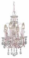 Crystorama 3224-BH-CL-MWP Imperial Crystal 14 Inch Wide Blush Mini Chandelier Lighting Fixture