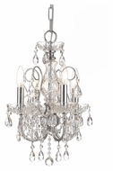 Crystorama 3224-CH-CL-MWP Imperial Mini 14 Inch Diameter Polished Chrome Chandelier Lamp