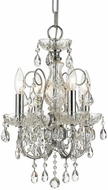 Crystorama 3224-CH-CL-SAQ Imperial Polished Chrome Mini Chandelier Light
