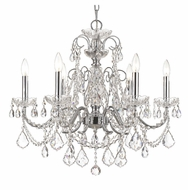 Crystorama 3226-CH-CL-MWP Imperial Small 24 Inch Diameter Polished Chrome 6 Candle Chandelier