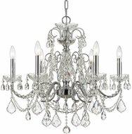 Crystorama 3226-CH-CL-S Imperial Polished Chrome Ceiling Chandelier