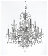 Crystorama 3228-CH-CL-MWP Imperial 27 Inch Diameter Medium 8 Candle Polished Chrome Finish Lighting Chandelier
