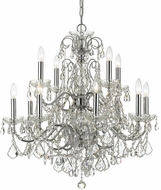 Crystorama 3228-CH-CL-S Imperial Polished Chrome Chandelier Light