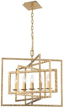 Crystorama 336-GA Capri Modern Antique Gold 24  Chandelier Lighting