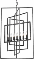 Crystorama 339-RS Capri Contemporary Raw Steel Foyer Lighting Fixture