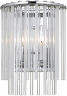Crystorama 392-CH Bleecker Contemporary Polished Chrome Wall Light Sconce