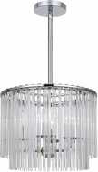 Crystorama 394-CH Bleecker Modern Chrome Chandelier Light