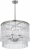 Crystorama 396-CH Bleecker Modern Chrome Chandelier Lighting