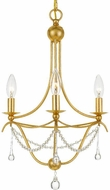 Crystorama 423-GA Metro Antique Gold Mini Chandelier Lamp