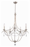 Crystorama 425-SA Metro II Traditional Antique Silver Finish Small 5 Candle Chandelier Lighting