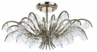 Crystorama 430-SA Metro II 20 Inch Diameter Semi Flush Mount Antique Silver Ceiling Light Fixture