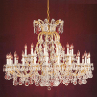 Crystorama 4308-GD-CL-MWP Maria Theresa Gold Ceiling Chandelier