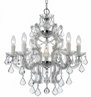 Crystorama 4335-CH-CL-S Maria Theresa Polished Chrome Mini Hanging Chandelier