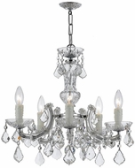 Crystorama 4376-CH-CL-MWP Maria Theresa Polished Chrome Mini Chandelier Lighting