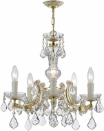 Crystorama 4376-GD-CL-SAQ Maria Theresa Gold Mini Hanging Chandelier