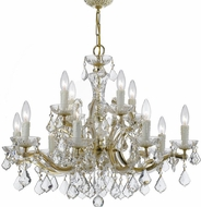 Crystorama 4379-GD-CL-MWP Maria Theresa Gold 30 Chandelier Light