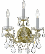 Crystorama 4403-GD-CL-SAQ Maria Theresa Gold Candle Lighting Wall Sconce