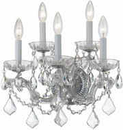 Crystorama 4404-CH-CL-S Maria Theresa Polished Chrome Candle Wall Lighting Sconce
