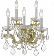 Crystorama 4404-GD-CL-MWP Maria Theresa Gold Candle Wall Mounted Lamp