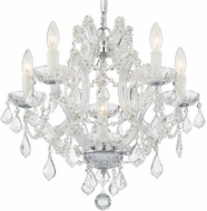 Crystorama 4405-CH-CL-MWP Maria Theresa Polished Chrome Mini Chandelier Lighting