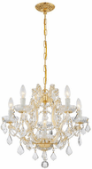 Crystorama 4405-GD-CL-I Maria Theresa Gold Mini Hanging Chandelier