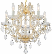 Crystorama 4405-GD-CL-SAQ Maria Theresa Gold Mini Hanging Chandelier