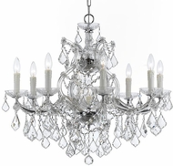 Crystorama 4408-CH-CL-MWP Maria Theresa Polished Chrome 26 Chandelier Light
