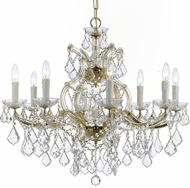Crystorama 4408-GD-CL-MWP Maria Theresa Gold 26 Chandelier Lamp