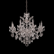 Crystorama 4409-CH-CL-MWP Maria Theresa 28 Inch Diameter Polished Chrome 9 Candle Ceiling Chandelier Lamp