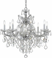 Crystorama 4409-CH-CL-S Maria Theresa Polished Chrome 28 Hanging Chandelier