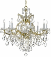 Crystorama 4409-GD-CL-MWP Maria Theresa Gold 28 Chandelier Lighting