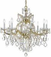 Crystorama 4409-GD-CL-S Maria Theresa Gold 28 Lighting Chandelier