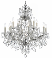 Crystorama 4412-CH-CL-MWP Maria Theresa Polished Chrome 29 Ceiling Chandelier