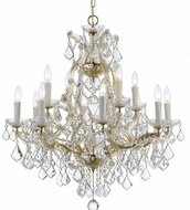 Crystorama 4412-GD-CL-S Maria Theresa Gold 29 Chandelier Lamp