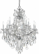Crystorama 4413-CH-CL-MWP Maria Theresa Polished Chrome 28 Ceiling Chandelier