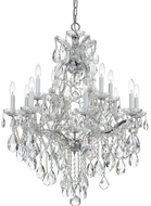 Crystorama 4413-CH-CL-S Maria Theresa Polished Chrome 28 Hanging Chandelier