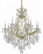 Crystorama 4413-GD-CL-S Maria Theresa Gold 28 Lighting Chandelier