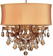 Crystorama 4415-AB-SHG-GTM Brentwood Antique Brass Mini Chandelier Light
