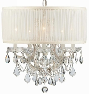 Crystorama 4415-CH-SAW-CLS Brentwood Polished Chrome Mini Hanging Chandelier