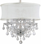 Crystorama 4415-CH-SMW-CLQ Brentwood Polished Chrome Mini Chandelier Light